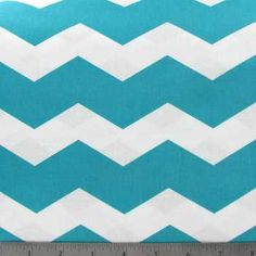 Turquoise and White chevron fabric from Hobby Lobby