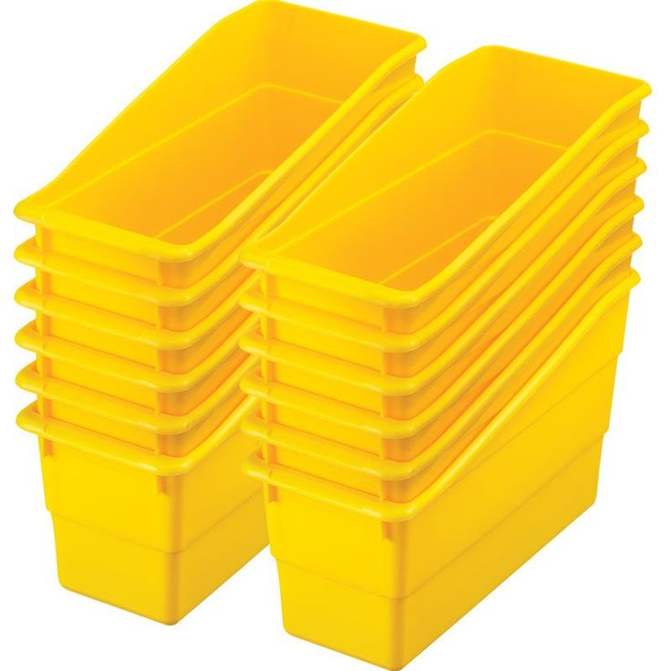 durable book and binder holders from Really Good Stuff - yellow