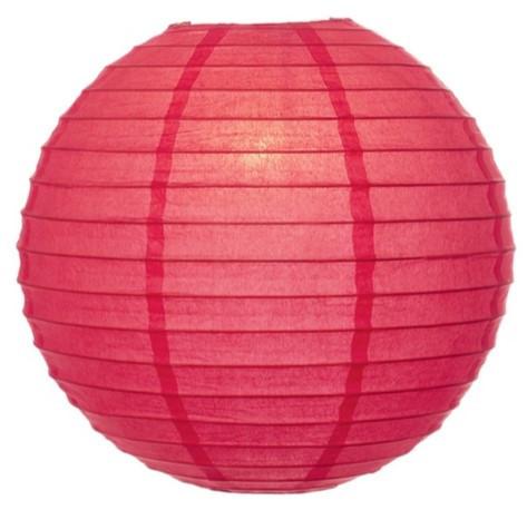 "12"" coral pink lantern - schoolgirl style"