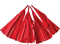 tissue paper tassels - red