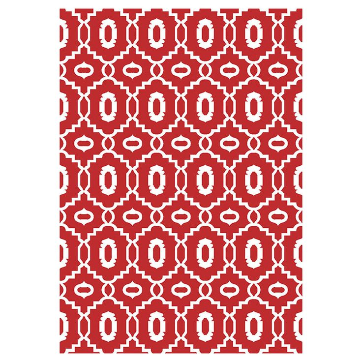 red and white Millwall Tributary rug from At Home
