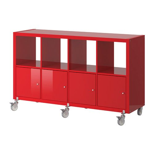 KALLAX shelf unit on casters from IKEA