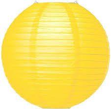 "12"" neon yellow lantern"
