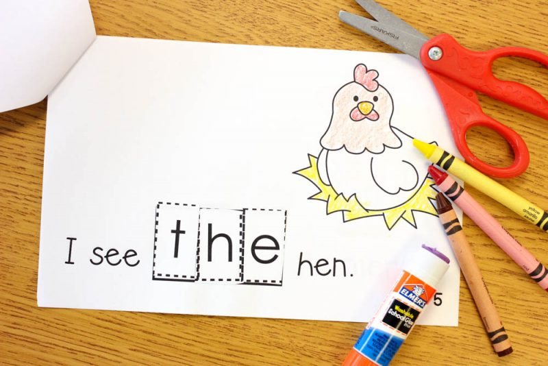 "FREE sight word reader to teach the word ""the"""