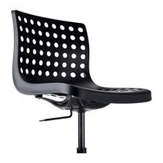 black IKEA skalberg swivel chair
