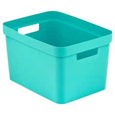 Turquoise Room Essentials storage bin from Target