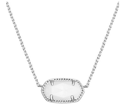 White and Silver Elisa necklace from Kendra Scott