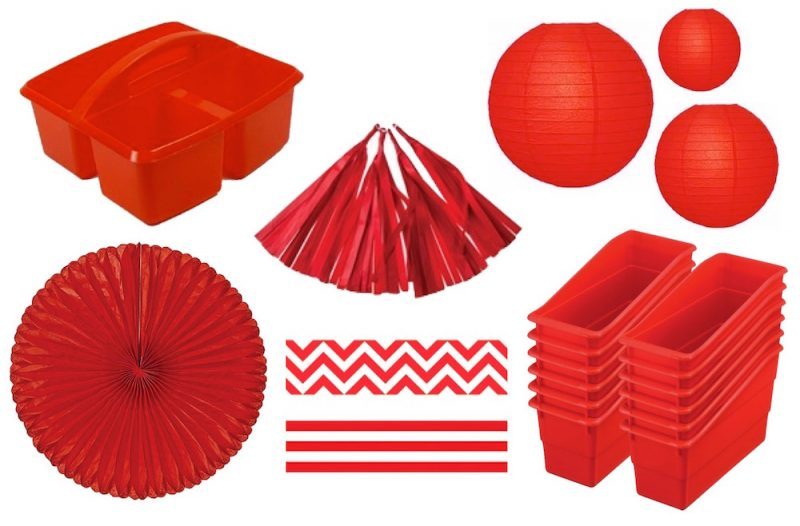 red classroom decoration inspiration