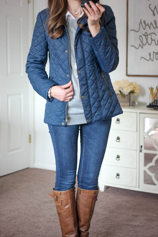 Sarah Quilted Jacket with Faux Fur Collar Lining from Coffeeshop - Stitch Fix