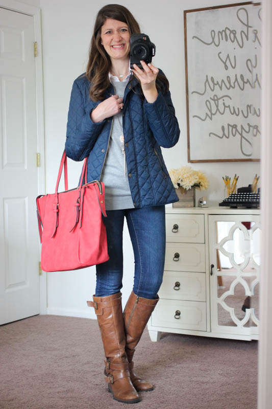 Amherst Multi-Zip Tote from Urban Expressions and Sarah Quilted Jacket with Faux Fur Collar Lining - Stitch Fix