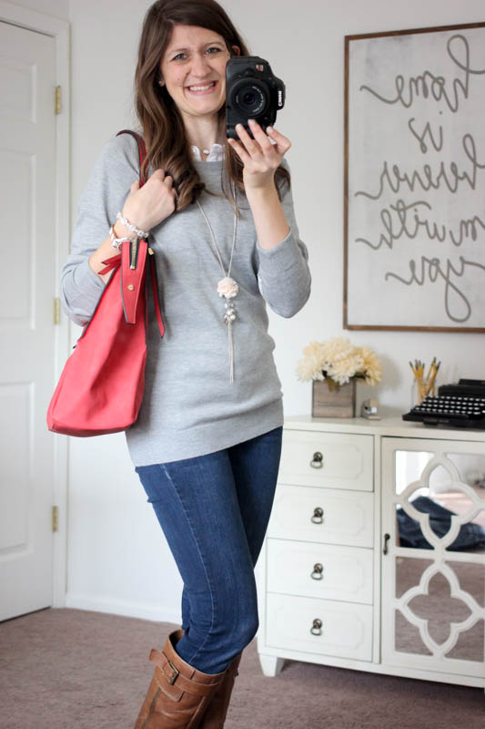 Amherst Multi-Zip Tote from Urban Expressions and Fierro Elbow Patch Crew Neck Sweater from Brixon Ivy - Stitch Fix