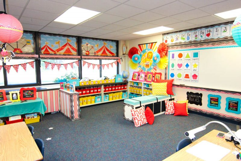 Circus Classroom Decoration : Take a tour of my vintage circus kindergarten classroom