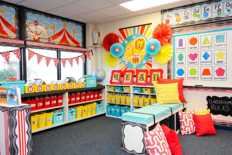 Classroom Decorations Store ~ Take a tour of my vintage circus kindergarten classroom