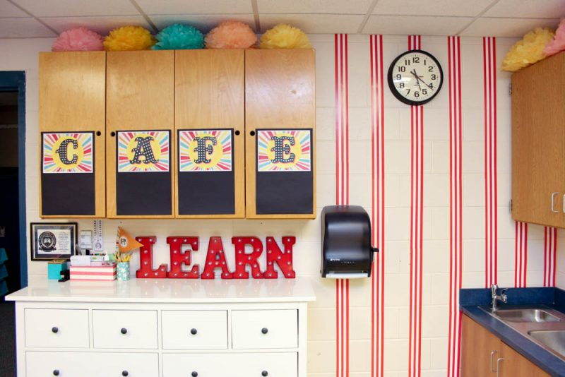 IKEA Hemnes Dresser brings amazing storagein into a kindergarten classroom