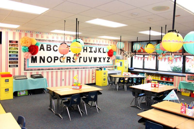 Classroom Decorations Australia ~ Take a tour of my vintage circus kindergarten classroom