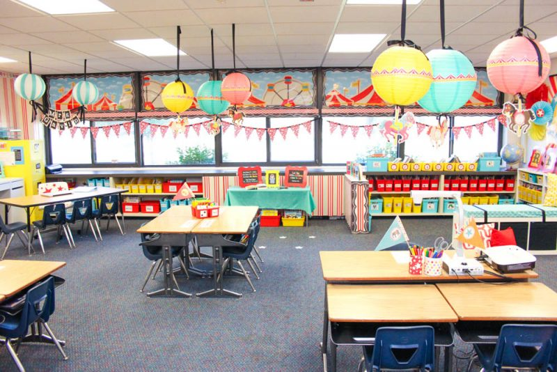 classroom decor shopping guide for the Vintage Circus theme from Schoolgirl Style