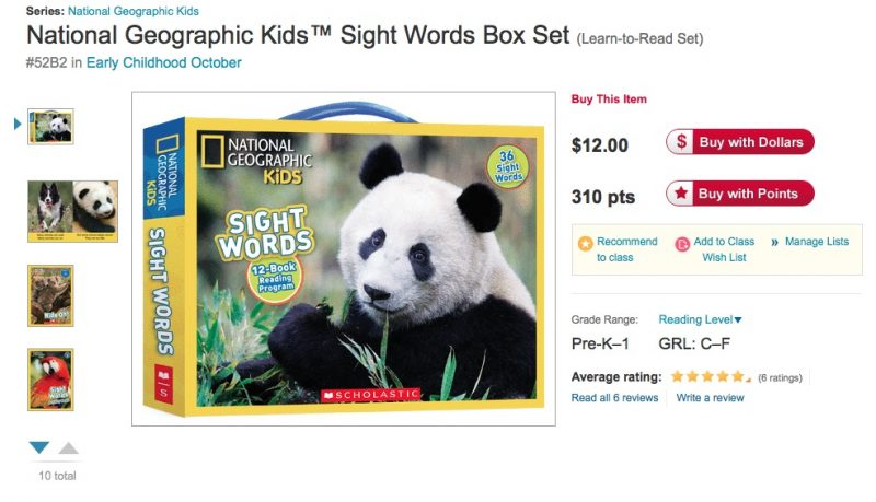 National Geographic Kids Sight Words Box Set
