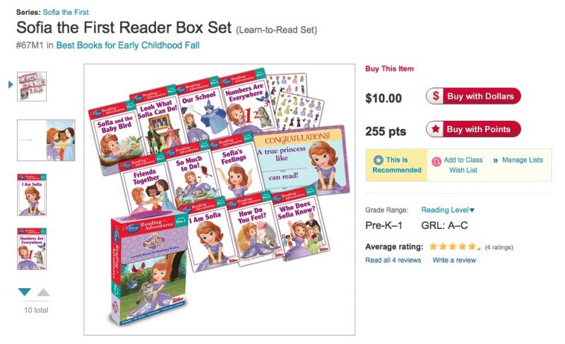 Sofia the First Reader box set