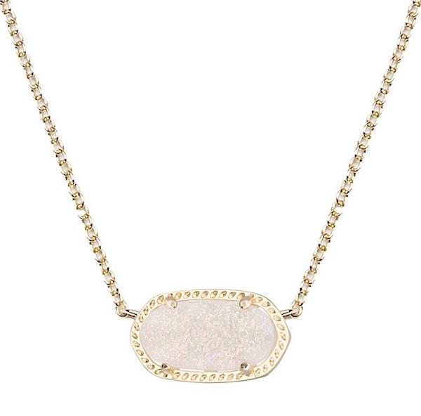 Kendra Scott Irridescent Gold Drusy Elisa Necklace