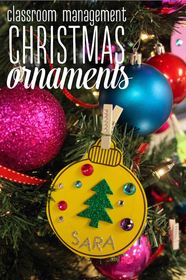Classroom Management Christmas Ornaments