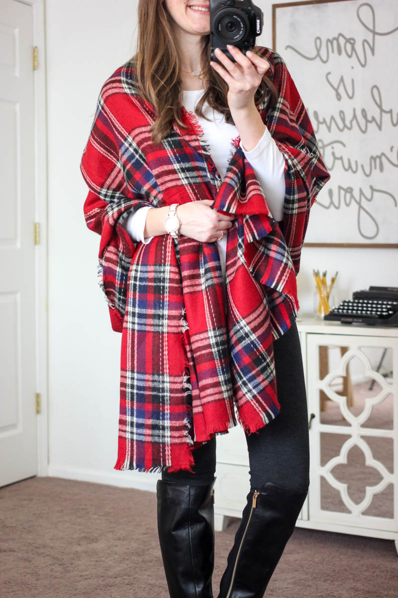 Alpine Plaid Wrap Scarf from Look by M - December Stitch Fix