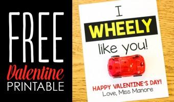 """I Wheely Like You"" Student Valentine Freebie"