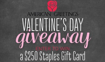 $250 Staples Gift Card Valentine Giveaway from American Greetings