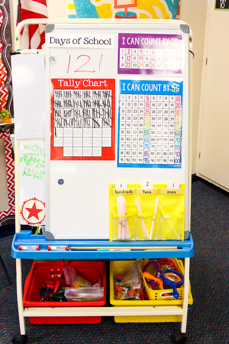 count the days of school in kindergarten