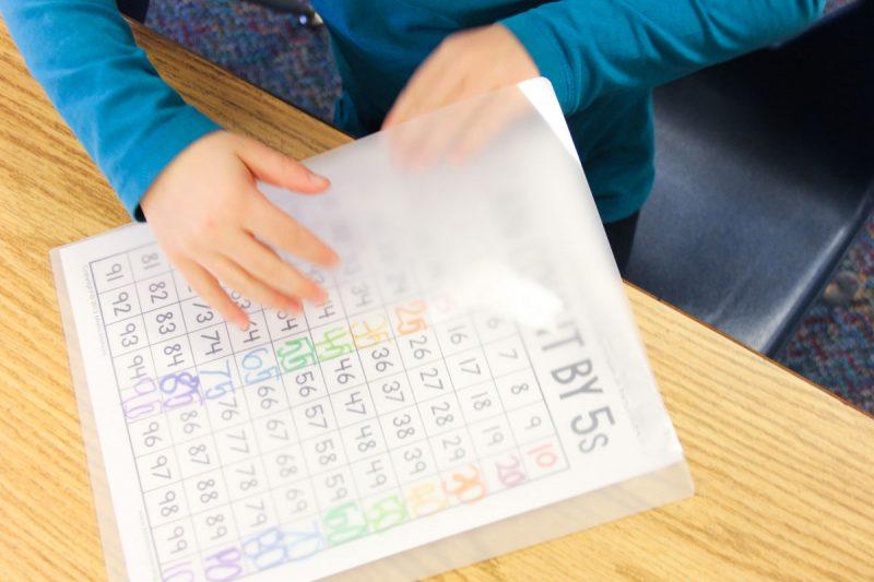 kindergarten skip counting charts