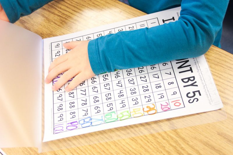 kindergarten skip counting resources