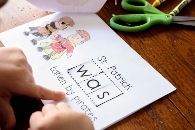 FREE Interactive Sight Word Reader to teach about St. Patrick