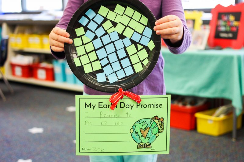 FREE Earth Day Promise writing activity