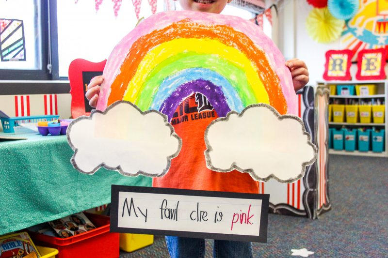 kindergarten rainbow art