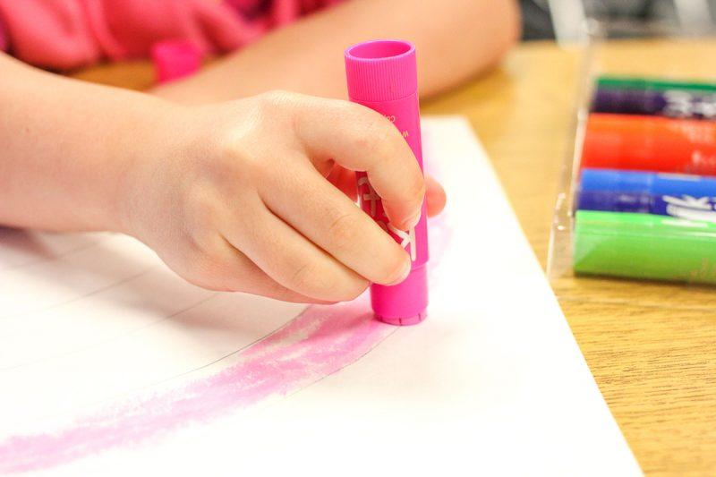 Kindergarten Rainbow Art and Sentence Writing
