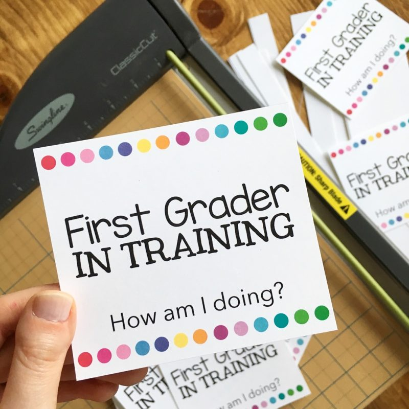 First Grader in Training badges