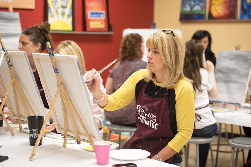 Kinder Craze painting party for Detoit area teachers