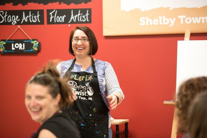 Kinder Craze painting party for teachers