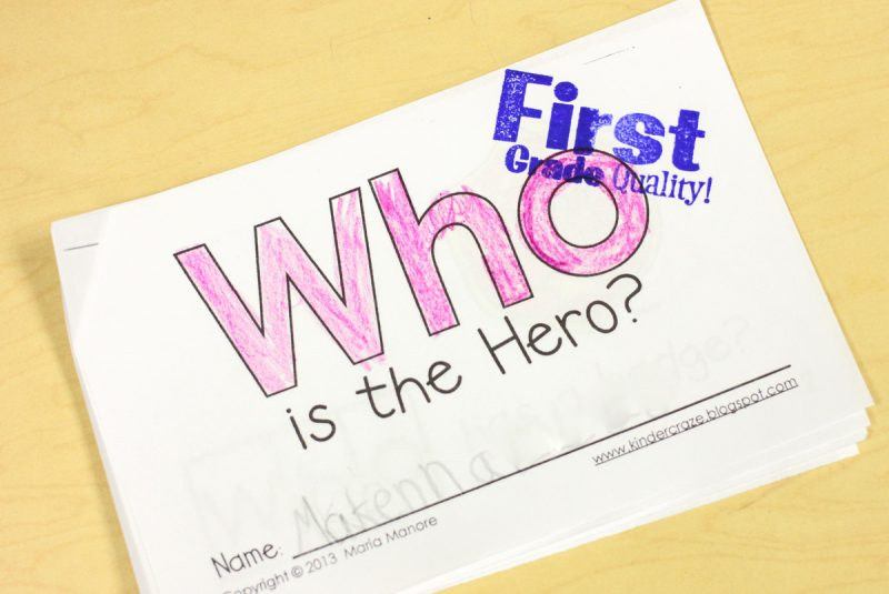 using a First Grade Quality stamp in kindergarten