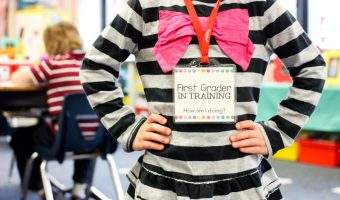 """Free """"First Grader in Training"""" Badges"""