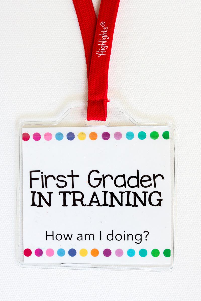 First Grader in Training badges