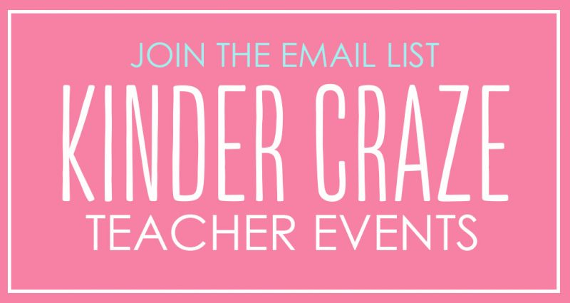 kinder craze teacher events