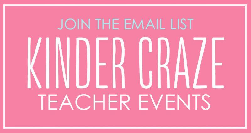 kinder craze teacher events