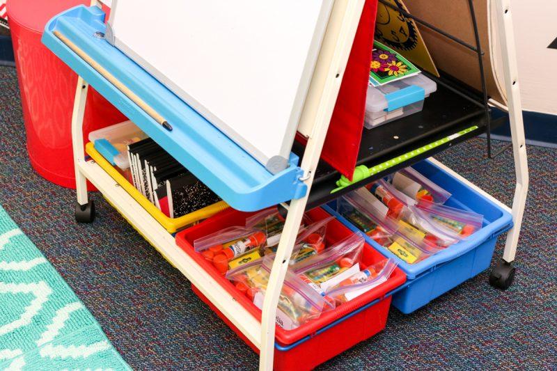 kindergarten school supply organization