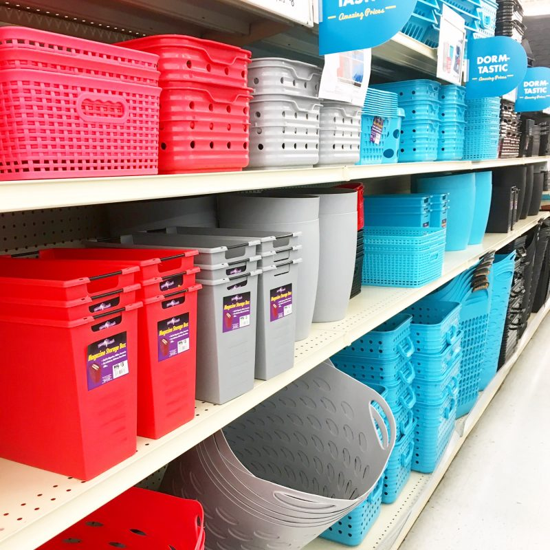 Big Lots storage bins for a classroom library