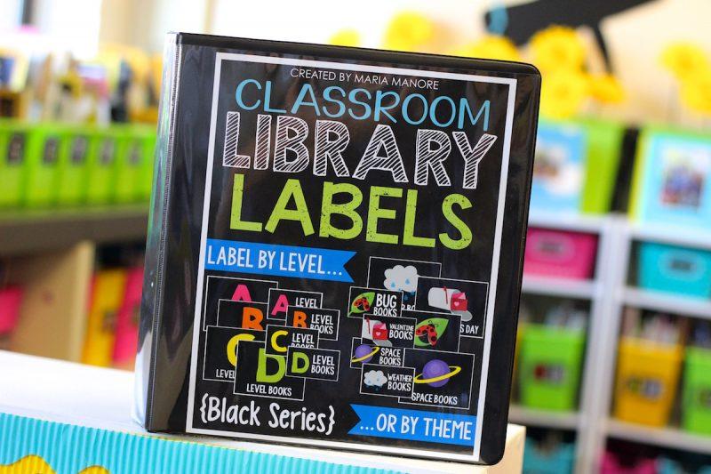 classroom library labels kinder craze