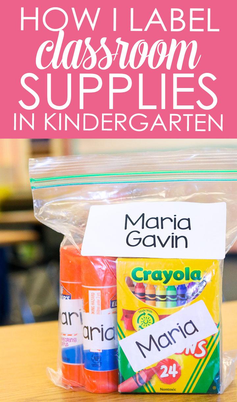 how I label classroom supplies
