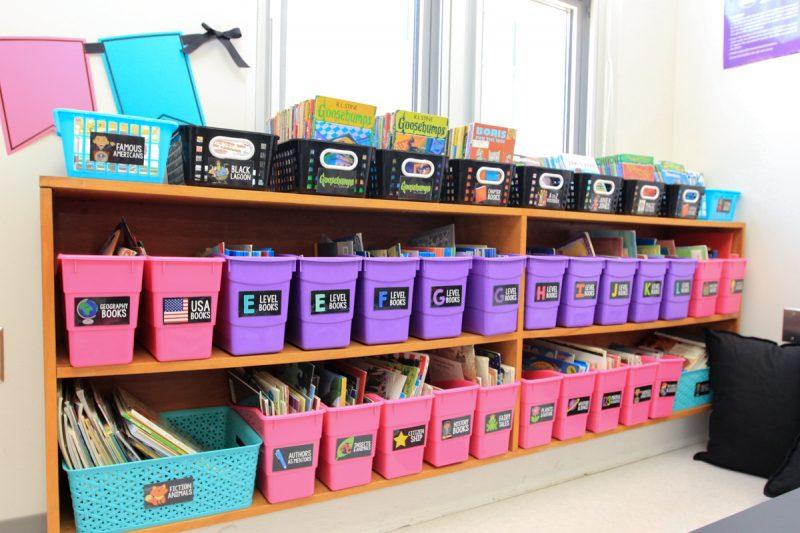 Astrobrights Classroom Makeover for first grade teacher Markeda Brown