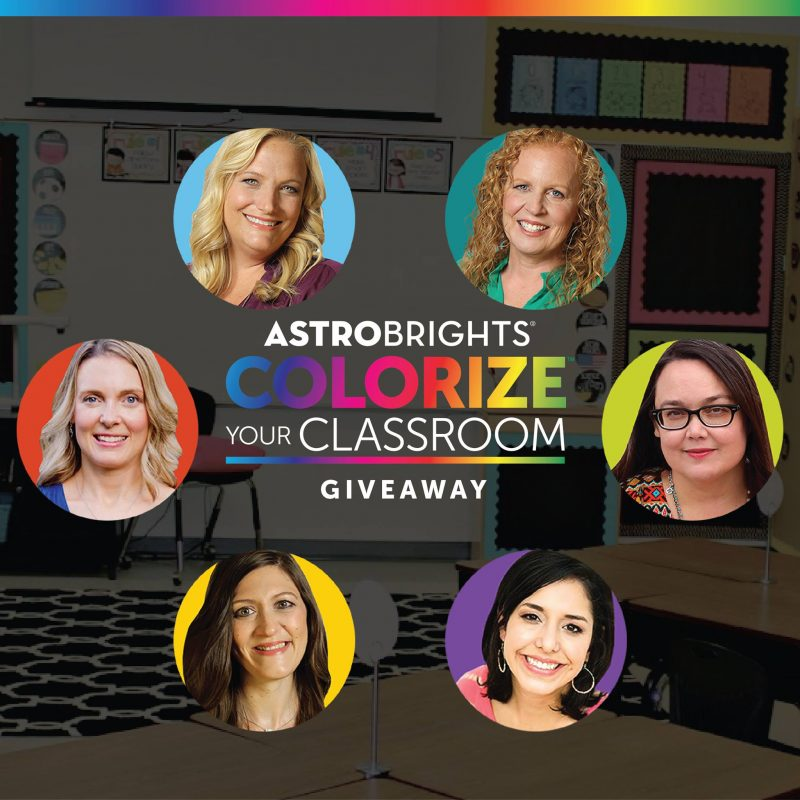 Astrobrights colorize your classroom giveaway