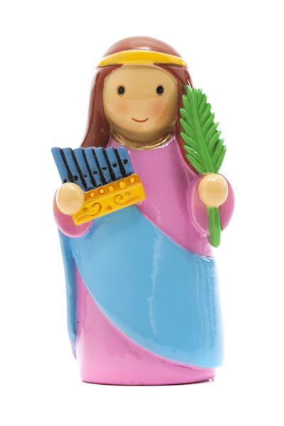 Saint Cecilia statue- All Saints Day resources for kids