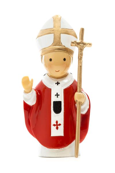 Saint John Paul II statue- All Saints Day resources for kids